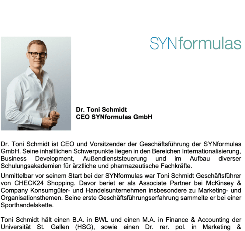 Profil - Toni Schmidt