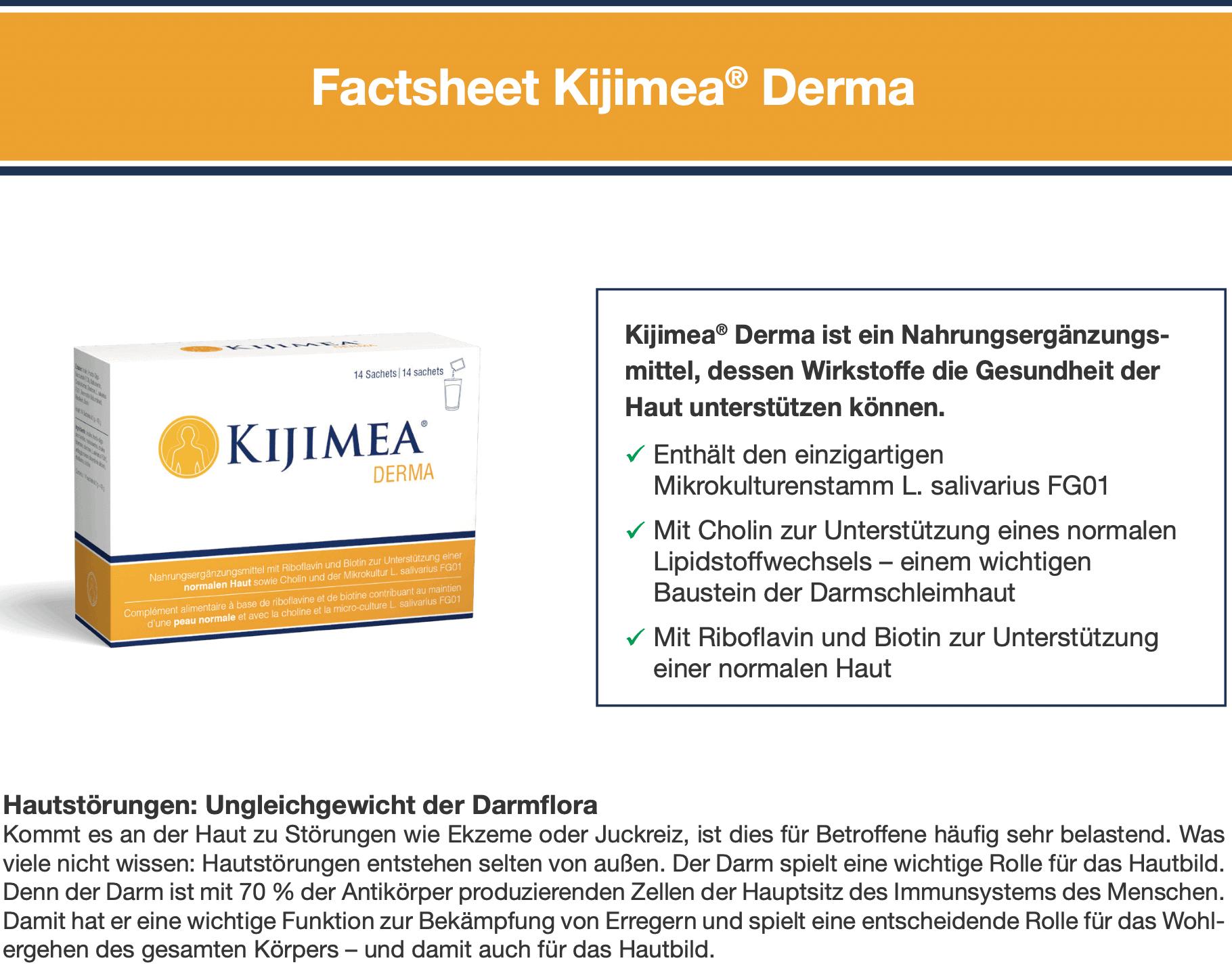 Factsheet Kijimea Derma