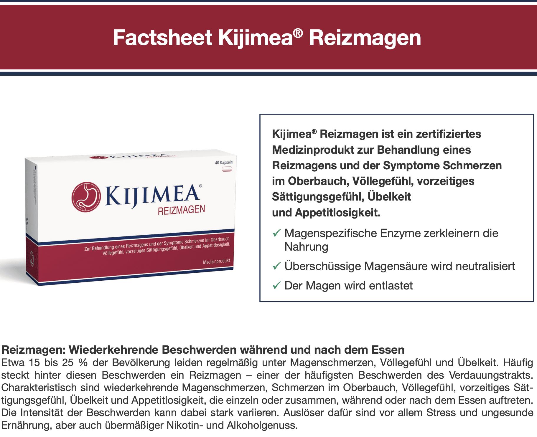 Factsheet Kijimea Reizmagen